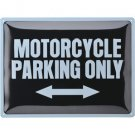 "Plåtskylt ""Motorcycle parking"""